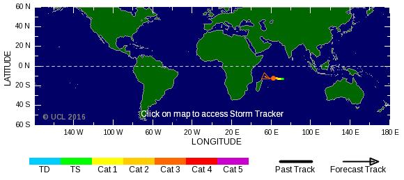 Carte des cyclones